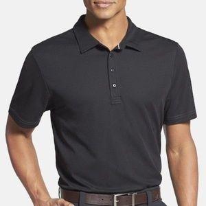Travis Mathew Golf Quick Dry Black Polo